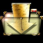 Steampunk Download Folder Icon