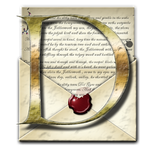 Steampunk D Open Envelope Icon by yereverluvinuncleber