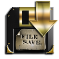 Steampunk Disc Save Icon by yereverluvinuncleber
