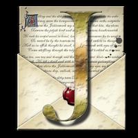 Steampunk J Open Envelope Icon by yereverluvinuncleber