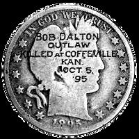 Steampunk Silver Dollar GreyScale Icon by yereverluvinuncleber