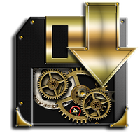 Steampunk Cogged Disc Save Icon by yereverluvinuncleber