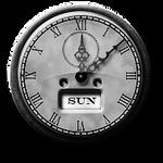 Steampunk Old Clock GreyScale Icon