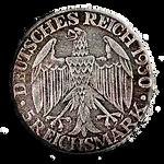 Steampunk Greyscale Reichsmark Icon