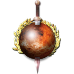 Steampunk Mars with Sword Icon