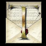 Steampunk T Open Envelope Icon