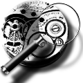 Steampunk Administrative Tools GreyScale Icon by yereverluvinuncleber