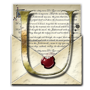 Steampunk U Open Envelope Icon by yereverluvinuncleber