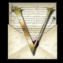 Steampunk V Open Envelope Icon by yereverluvinuncleber