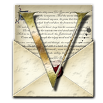 Steampunk V Open Envelope Icon by yereverluvinuncleber