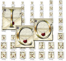 Steampunk Letters Iconset in Windows ICO format by yereverluvinuncleber