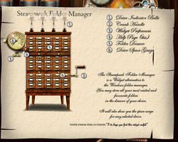 Steampunk Folder Manager by yereverluvinuncleber