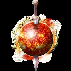 Steampunk Sun with Sword Icon