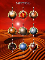 Through a mirror Planets with Sword PNG Iconset