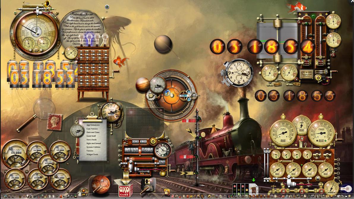 Train Desktop Windows 10 Steampunk to the max! by yereverluvinuncleber