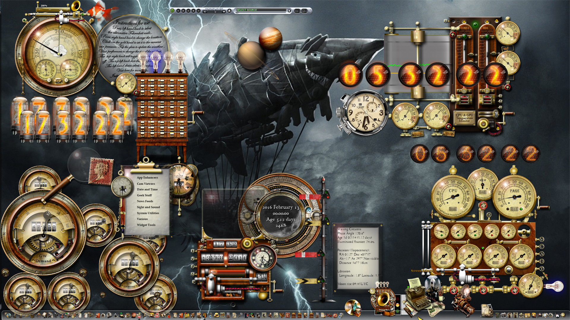 Dark Craft Windows 10 Steampunk Desktop By