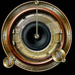 Steampunk-speaker icon in all formats