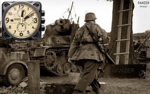 Panzer Clock and Stopwatch XWidget by yereverluvinuncleber