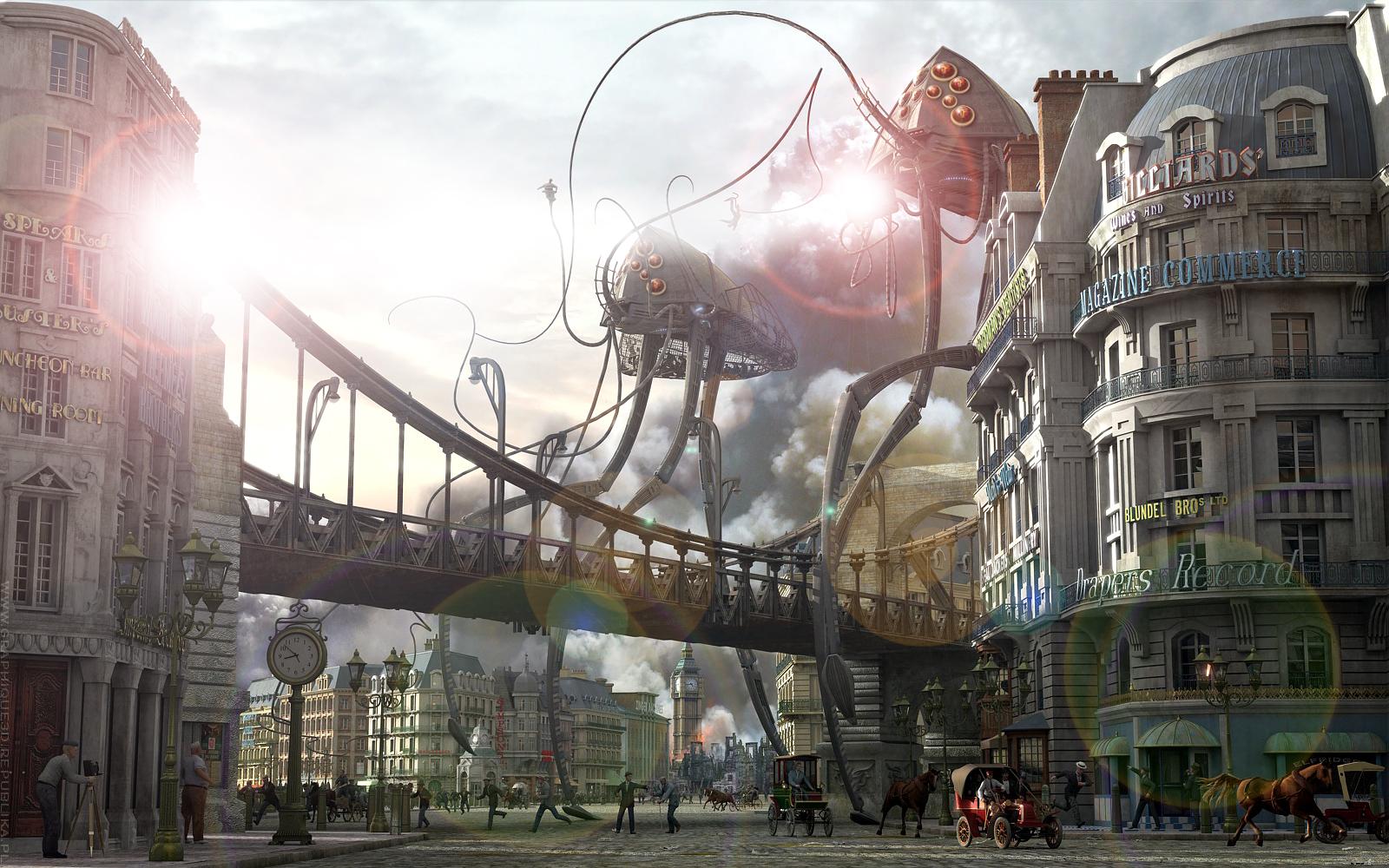 War Of The Worlds Tripod Desktop Wallpaper By Yereverluvinuncleber