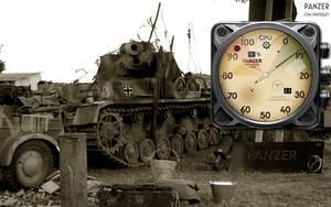 Panzer Tank CPU Gauge Xwidget by yereverluvinuncleber