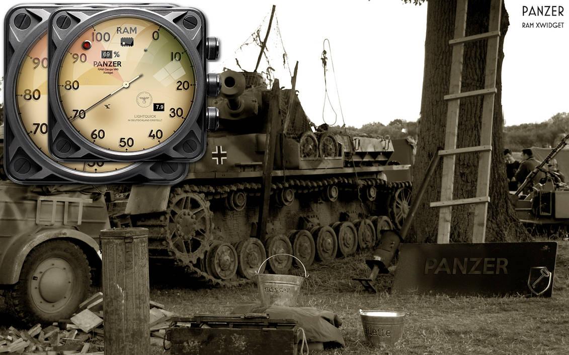 Panzer RAM Gauge Xwidget by yereverluvinuncleber