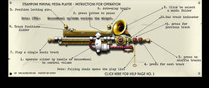 Steampunk Media Player XWidget