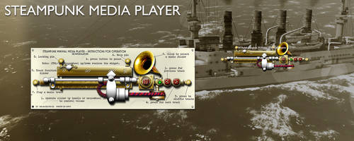 Steampunk Media Player Yahoo Konfabulator Widget by yereverluvinuncleber