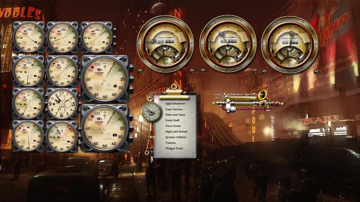 Desktop Windows 10 Media Player Steampunk'd by yereverluvinuncleber