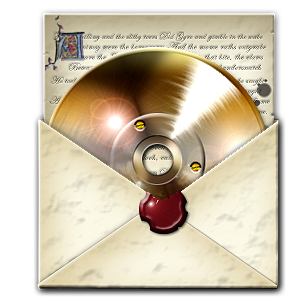 Steampunk CD in envelope by yereverluvinuncleber
