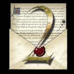 Steampunk Latin 2 Open Envelope Icon