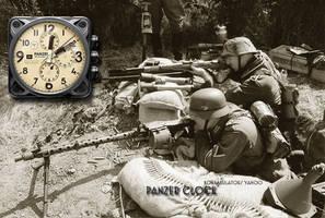 Panzer Clock and Stopwatch Yahoo Widget by yereverluvinuncleber