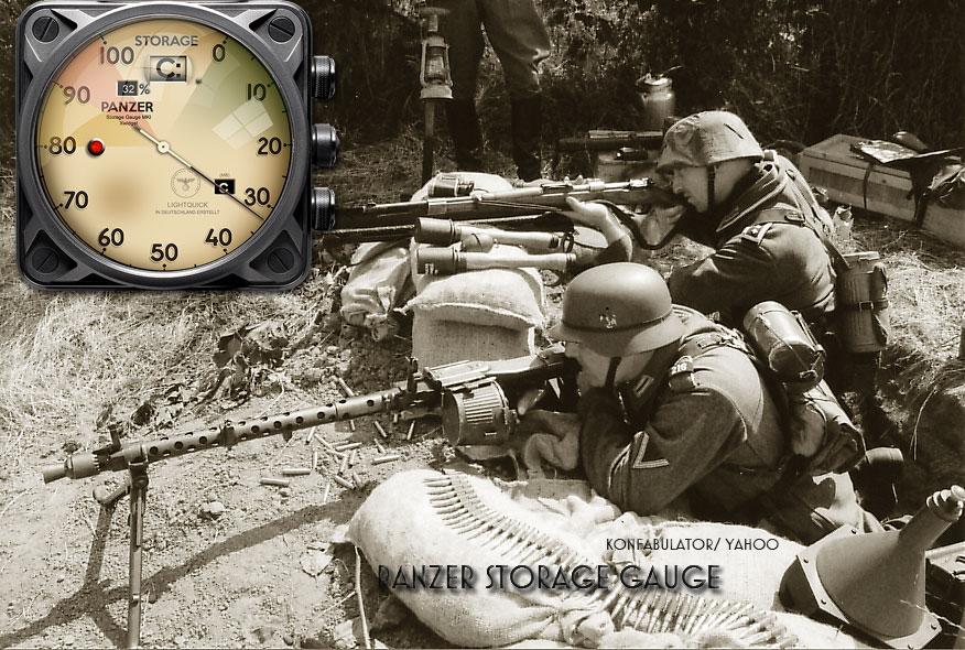 Panzer Disc Storage Gauge Yahoo Widget by yereverluvinuncleber