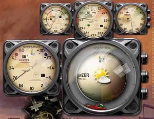 Cyberpunk Panzer Weather Widget