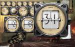 Dieselpunk Panzer Calendar Gauge Yahoo Widget by yereverluvinuncleber