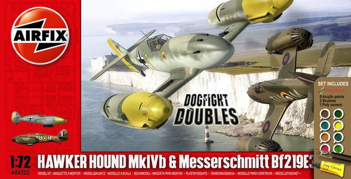 Airfix Hawker Hound + Me219 late 2000s box
