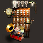 Steampunk Archive Icon by yereverluvinuncleber