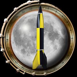 Rocket-moon-surround Steampunk Icon