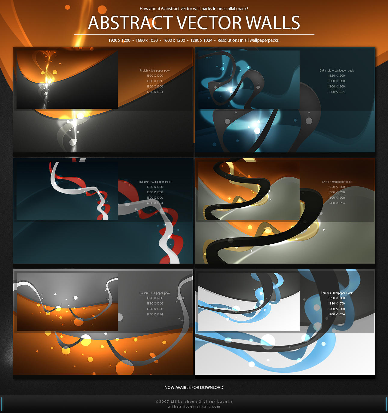 Abstract Vector Walls -WP Pack By Uribaani On DeviantArt