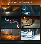 Abstract Vector Walls -WP Pack