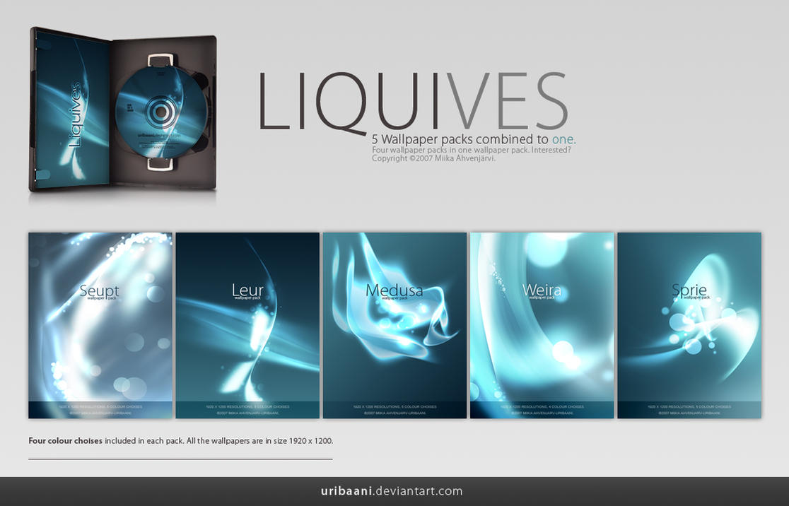 Liquives -Wallpaper pack. by Uribaani