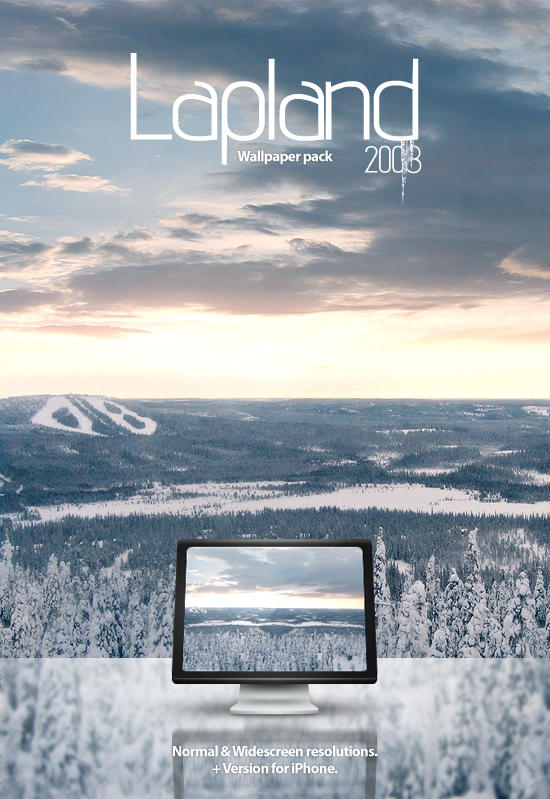 Lapland 2008 -Wallpaper pack. by Uribaani
