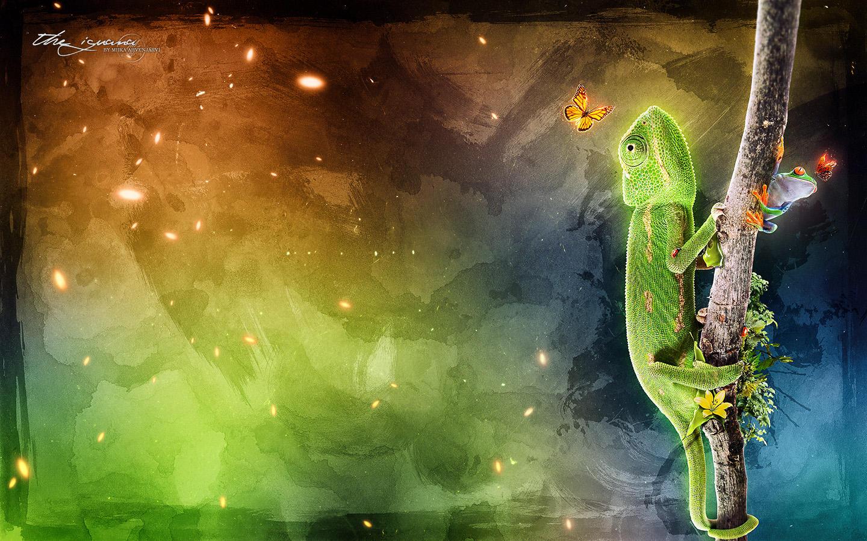 The Iguana by Uribaani