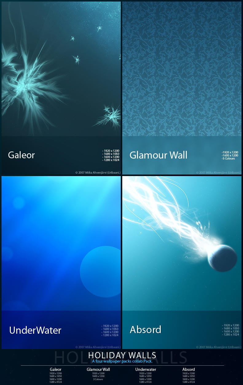 Holiday Walls. -Wallpaper pack by Uribaani