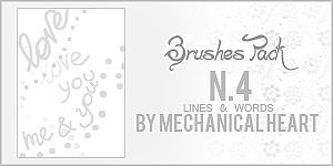 Brushes Pack n4, Lines + Words by CantBePerfect