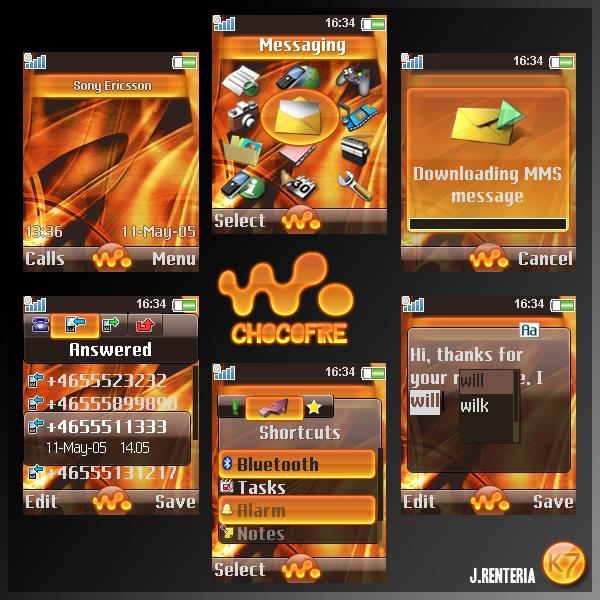 ChocoFire Sony Ericsson Theme
