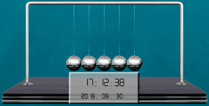 Pendulum (Newton's Cradle) 1 by balazslaci