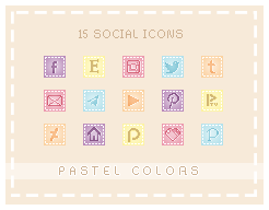 Socials Pastel Colors - Free by AjisaiGraphics
