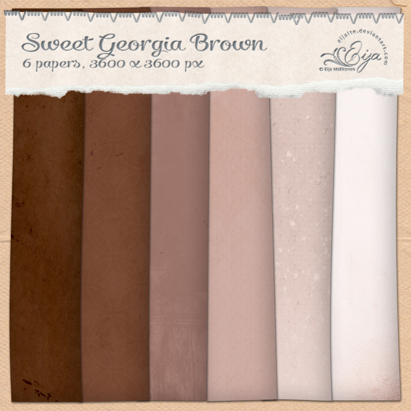 Sweet Georgia Brown paper pack by Eijaite