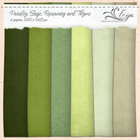 Parsley, Sage, Rosemary and Thyme paper pack by Eijaite