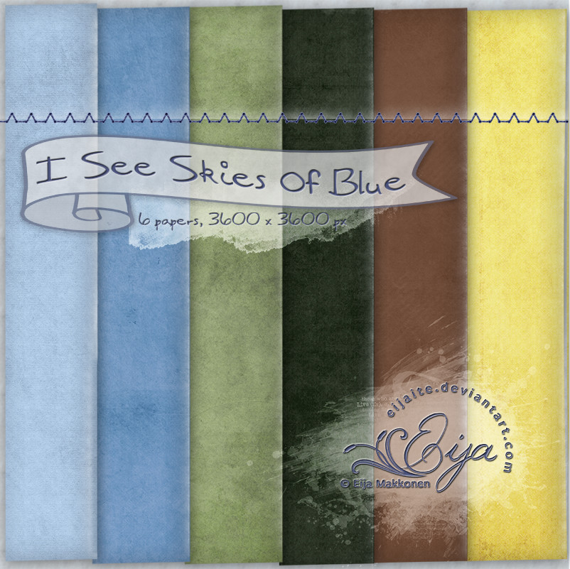 I See Skies of Blue paper pack by Eijaite
